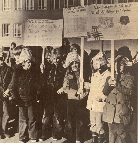 28.10 1972 Vår skolgård är trist VN