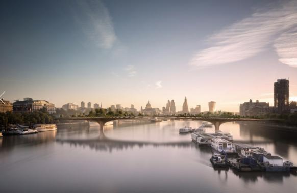 London blooming bridge