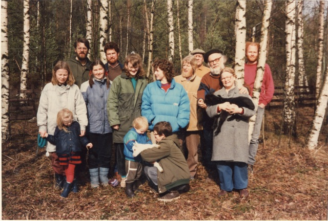 The Emmaus-Westervik community 1988 with me and my childen and my parents