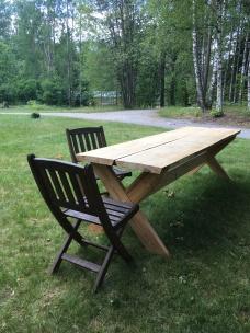 Jag ska bygga bänkar men stolar passar också bra